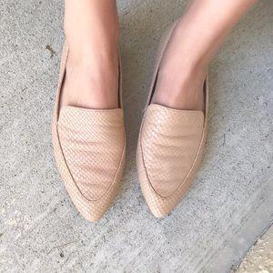 Snake skin loafers